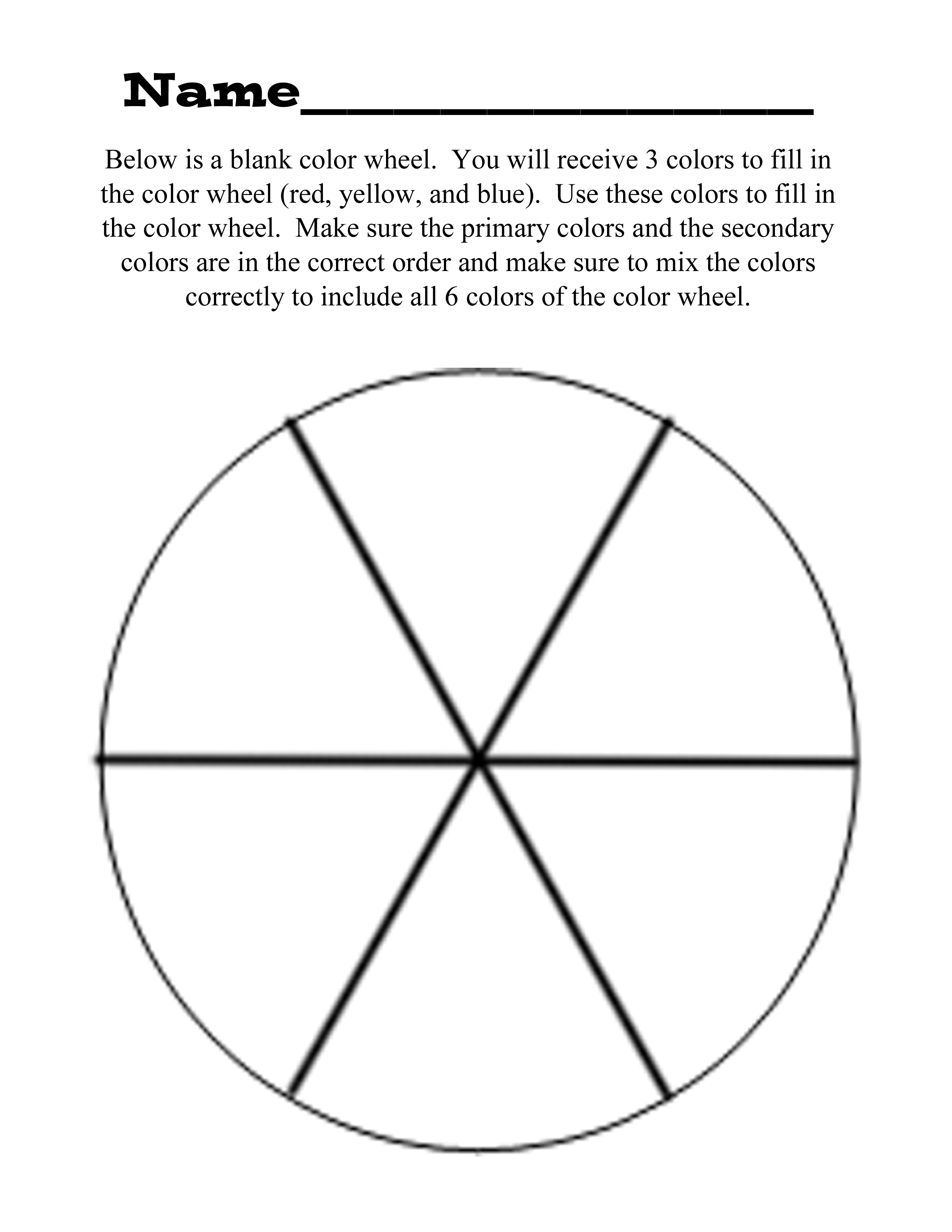 photo relating to Printable Color Wheel Worksheet called Examination - The Colour Wheel